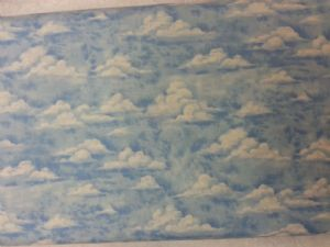 BLUE SKY DREAM CLOUDS - Fabric - Price Per Metre